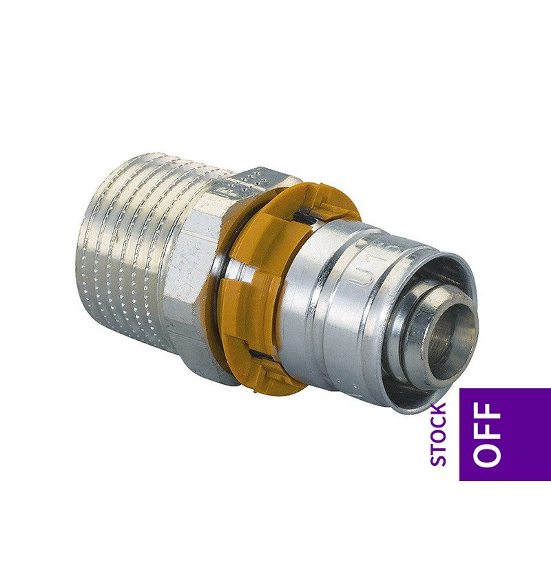 União macho 25x1 Uponor S-Press 1014592/1070508