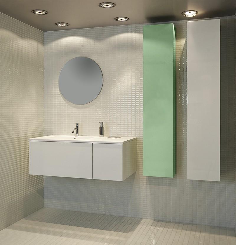 Móvel estante 30x20x152 Chic verde pastel RAL 6019