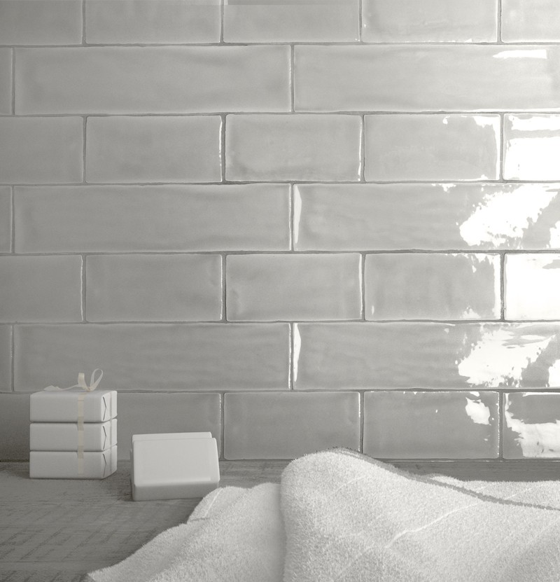 Revestimento cerâmico 7,5x30 Mayolica soft grey