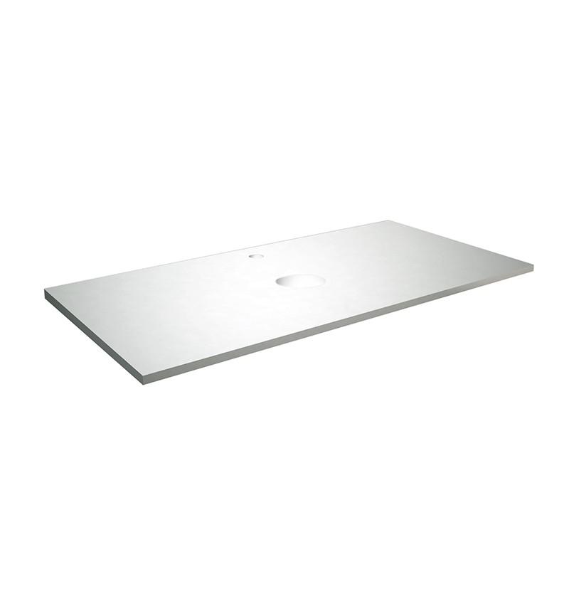Tampo lacado 150x50x12 Chic branco RAL 9010