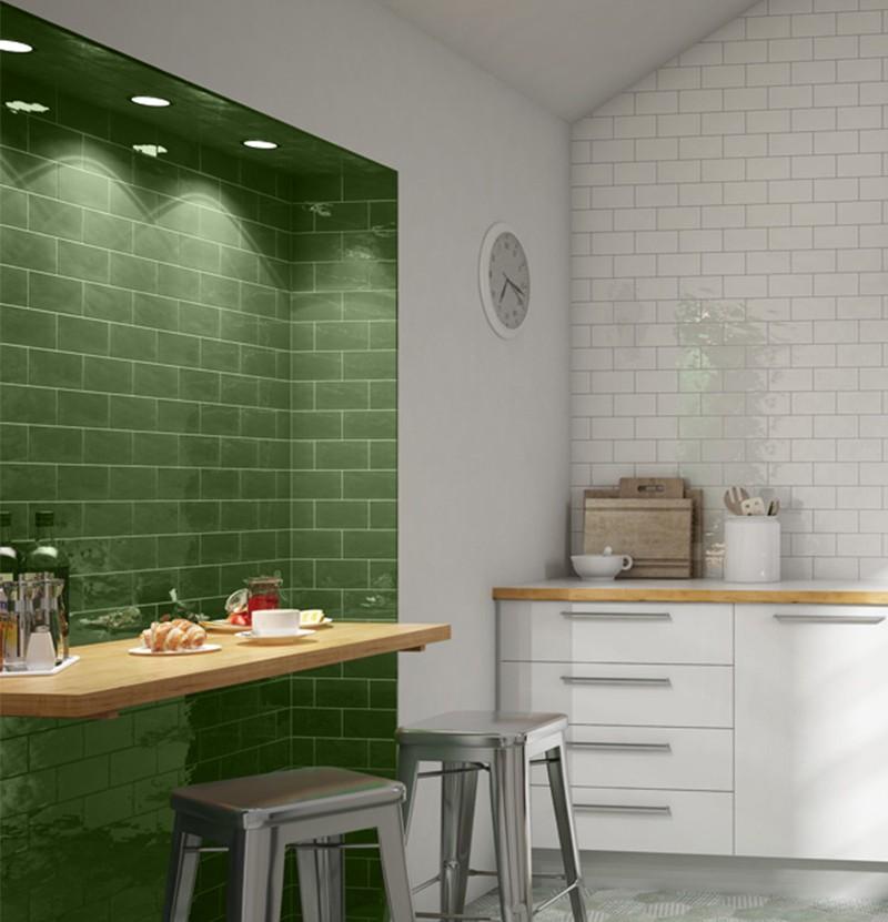 Revestimento cerâmico 7,5x15 Antic verde vic.