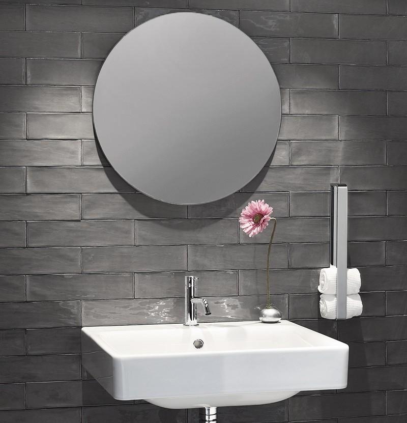 Espelho redondo S22 A4.90 inox escovado