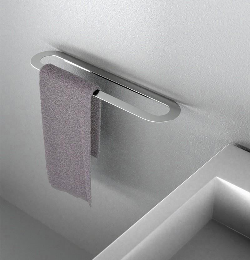 Toalheiro simples 35 cm Clip A9.11 inox polido