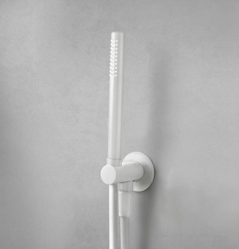 Suporte e chuveiro de mão Flow T1.621 branco