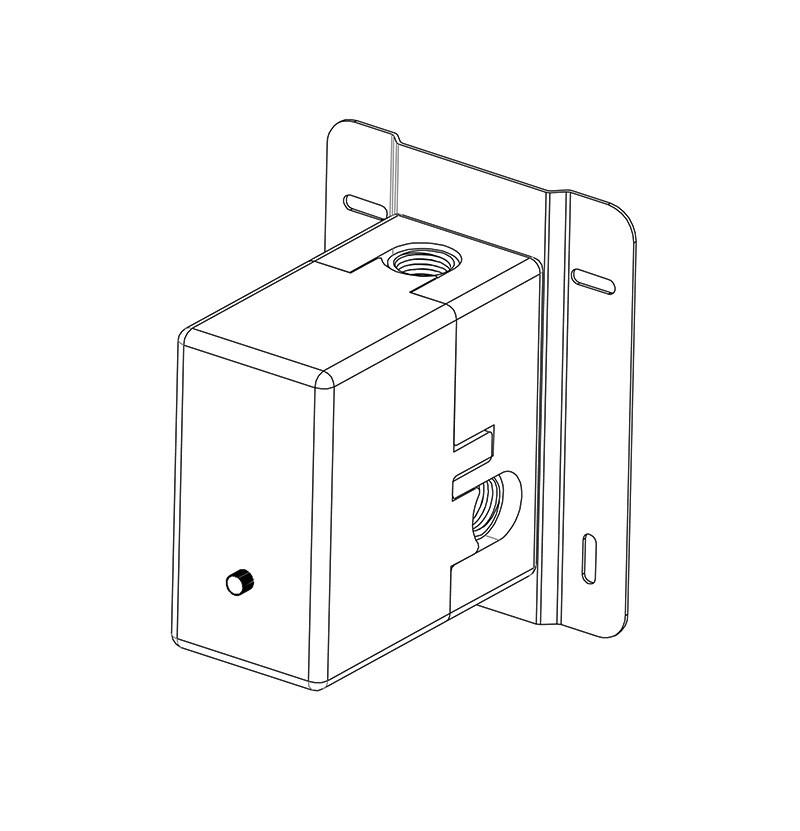 Torneira termostática Flow T1.32T cromada - parte interna
