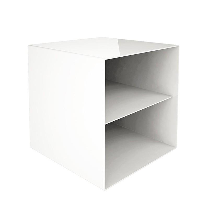 Móvel prateleira 40x40x40 Rubik branco RAL 9010