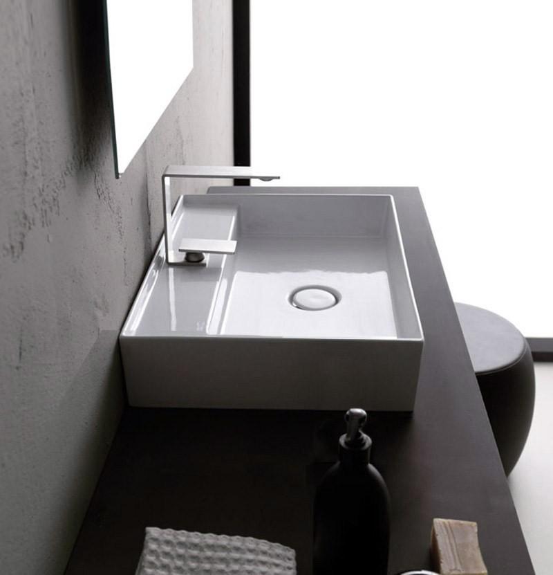 Lavatório de pousar 60x45 Alice Ceramica Hide