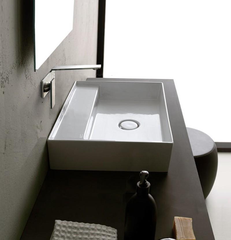 Lavatório de pousar 100x45 Alice Ceramica Hide