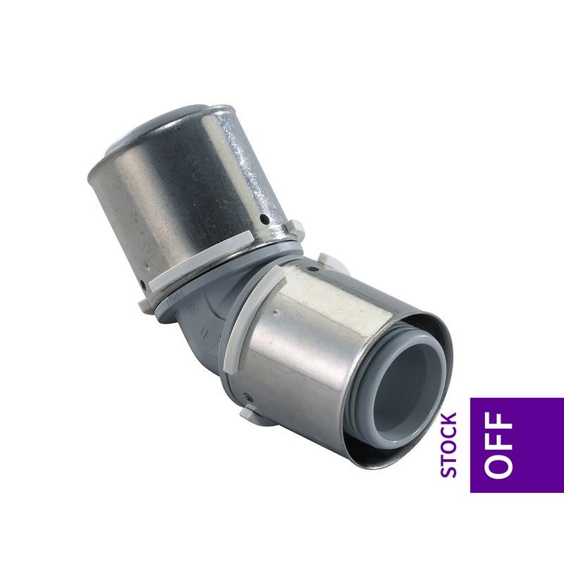 Joelho a 45° PPSU 40x40 Uponor S-Press 1046388