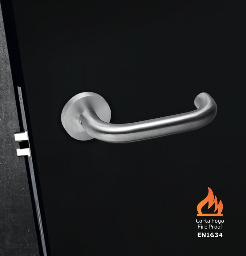 Puxador de porta corta fogo duplo JNF 00.028.B.CF