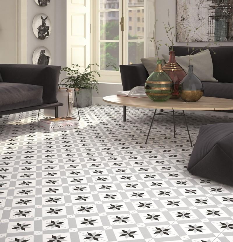 Pavimento hidráulico 20x20 1900 calvet gris