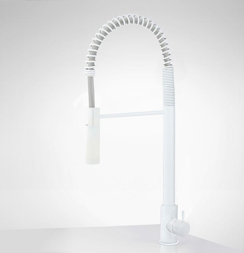 Torneira de cozinha c/ chuveiro Flow T1.57 branca