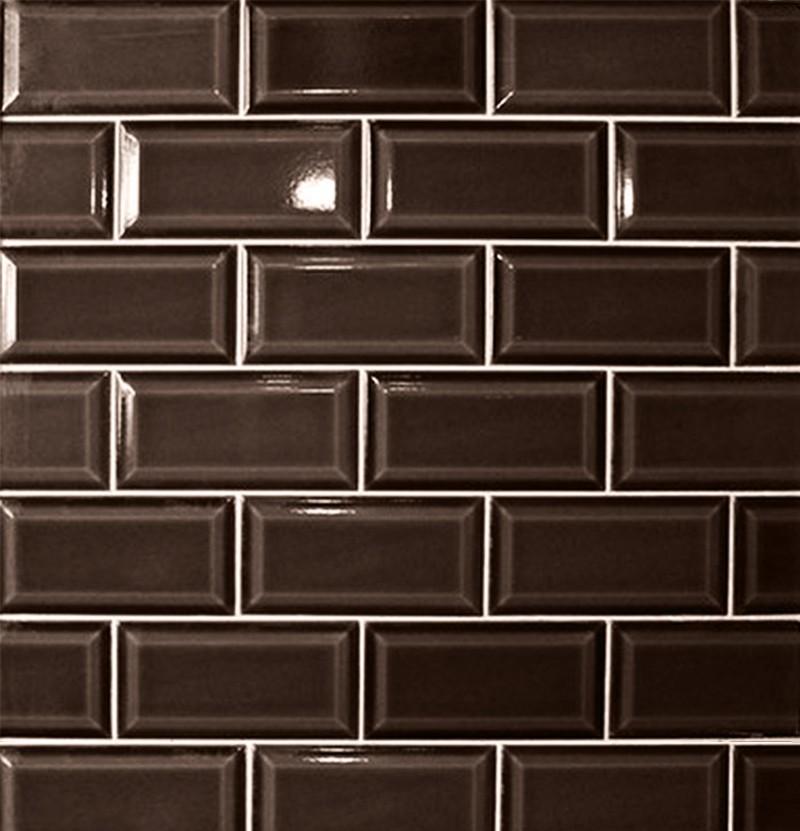Revestimento cerâmico 7,5x15 Metro chocolate