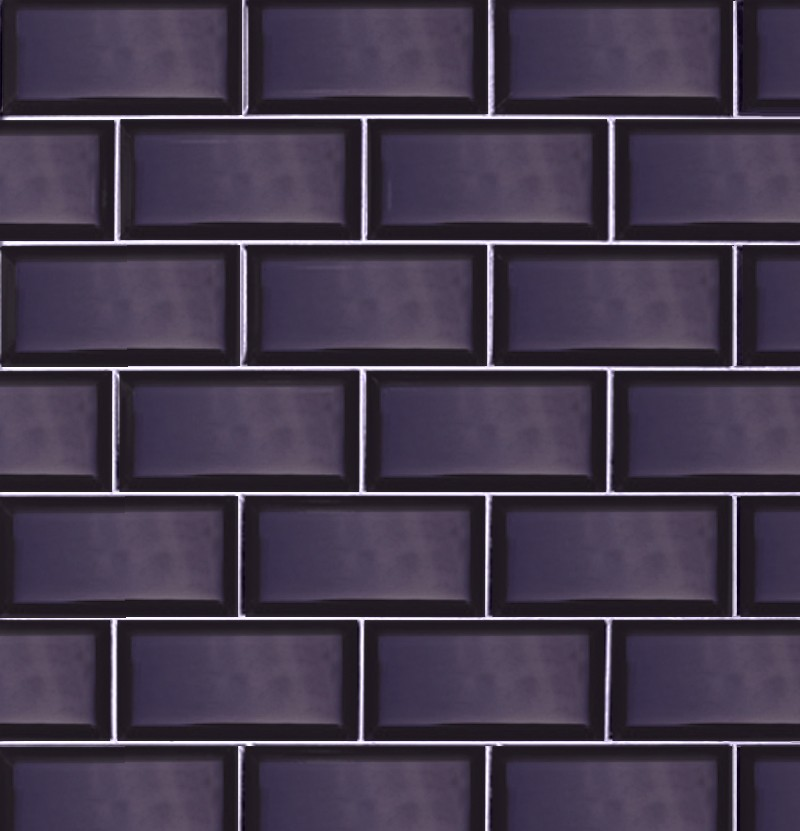 Revestimento cerâmico 7,5x15 Metro azul cobalto