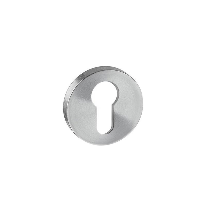 Entrada para cilindro europeu IN.04.28R.Y08.N inox