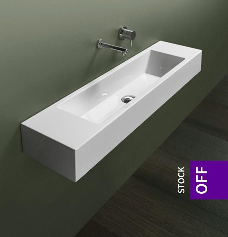 Lavatório 100x25 Catalano Verso 100 branco brilho
