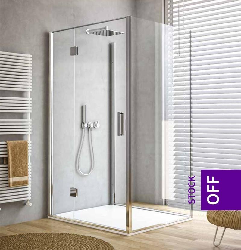 Resguardo de duche com 3 painéis Calibe Silis 402FIS inox escovado