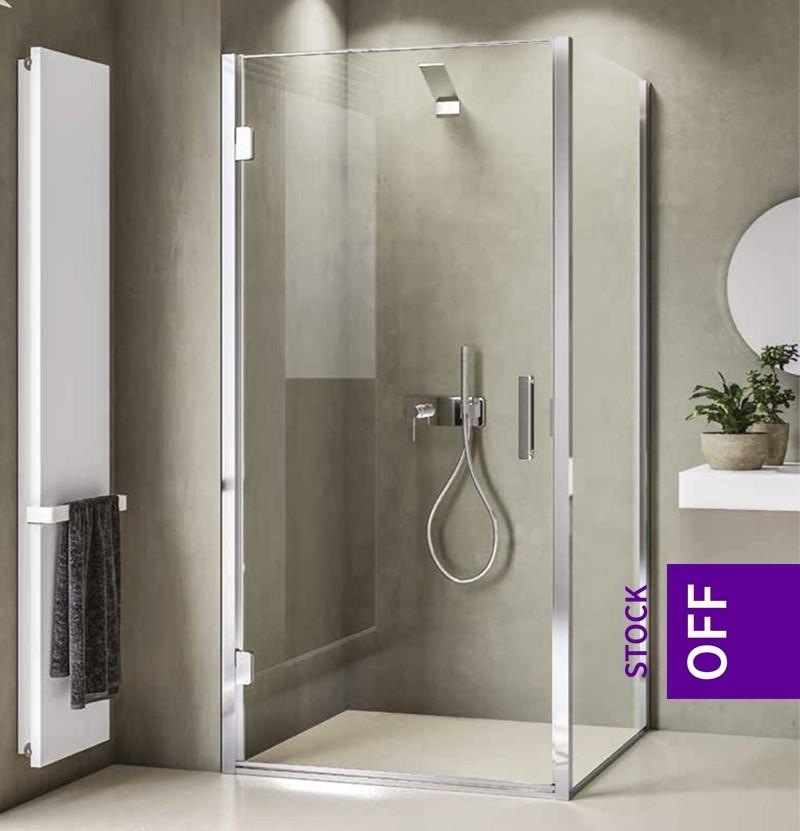 Resguardo de duche com 2 painéis Calibe Bithia 802BIT inox escovado