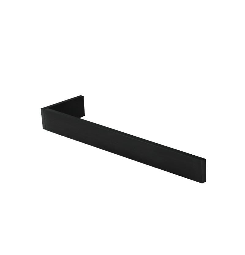 Toalheiro perpendicular 35 cm Deep A2.15 preto