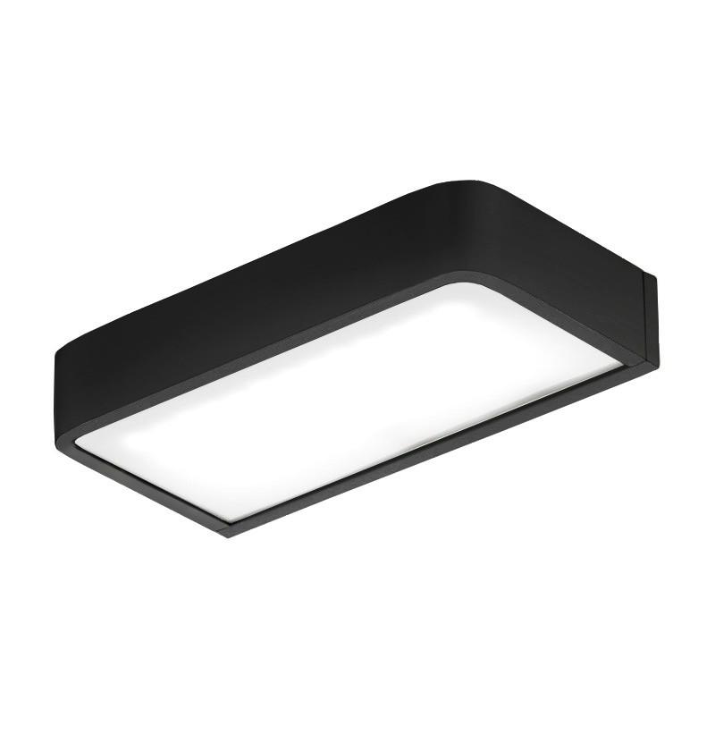 Aplique de iluminação WE Deep A2.95 preto