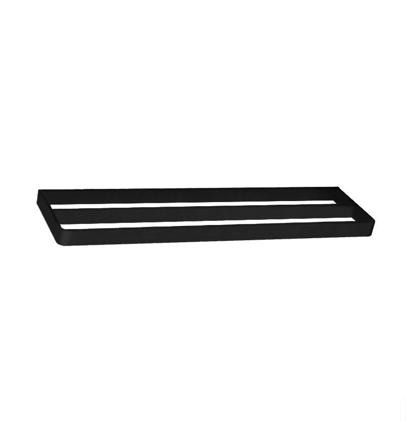 Toalheiro duplo 60 cm Deep A2.12D preto