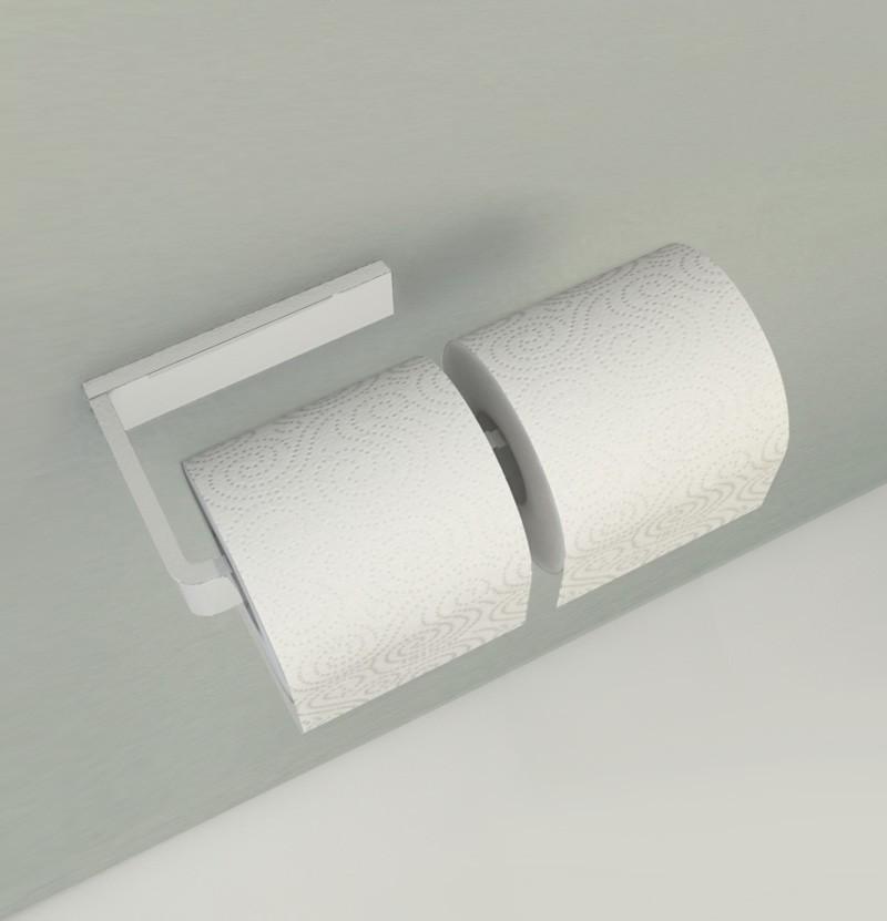 Porta-rolo duplo Deep A2.31 branco