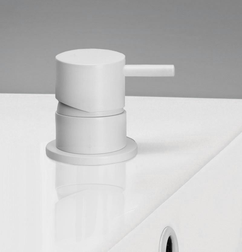 Torneira lavatório de bancada Flow T1.14 branca