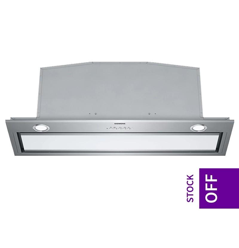 Exaustor integrável Siemens iQ700 em inox e vidro branco