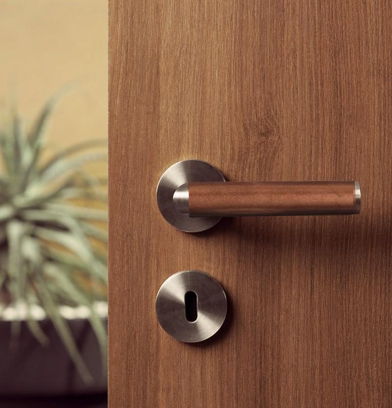 Puxador de porta Link Copper IN.00.409 inox e cobre