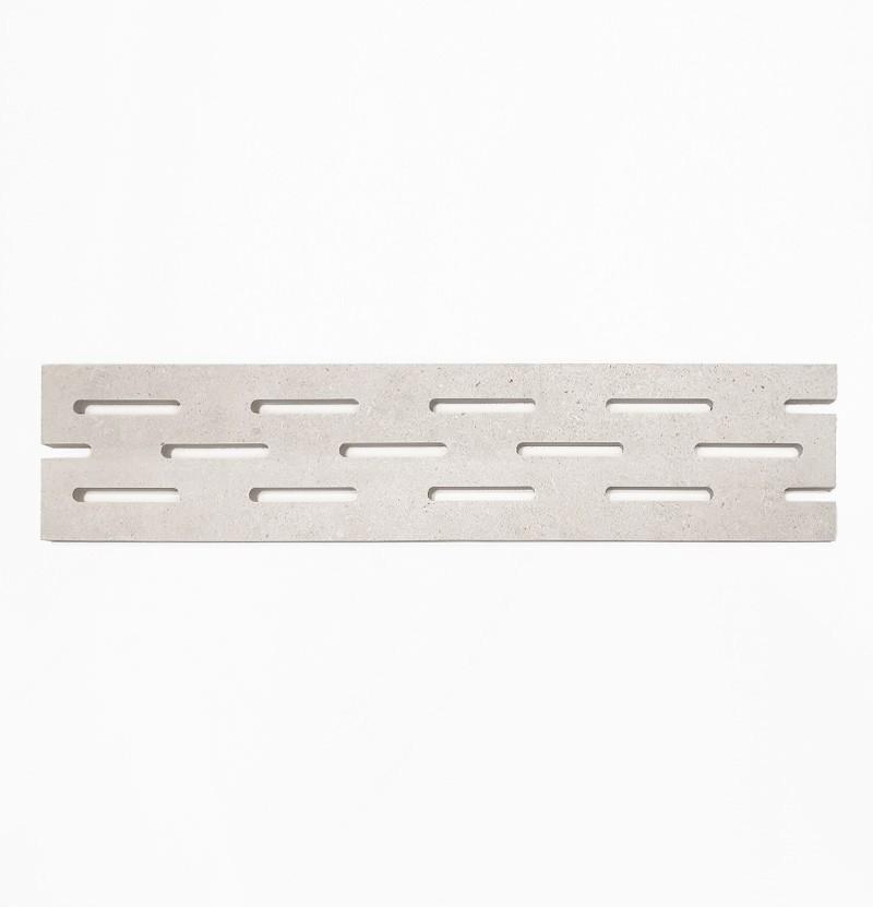 Grelha cerâmica para exterior 19,5x90 cm light grey